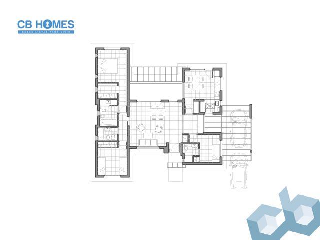 Casa 4 Ambientes - CBH-01
