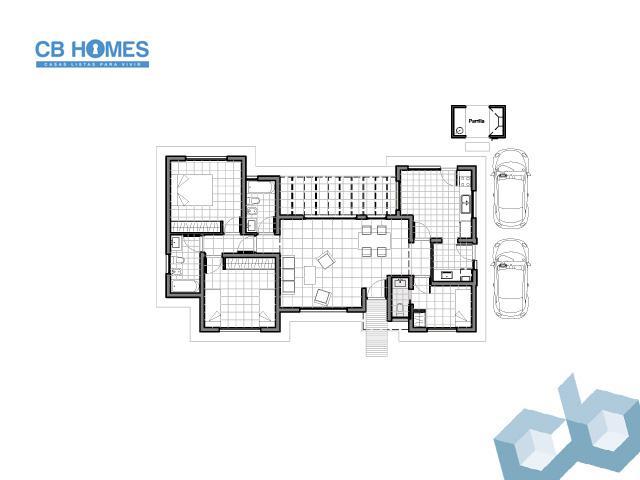 Casa 4 Ambientes - CBH-05