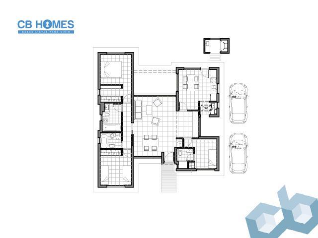 Casa 4 Ambientes - CBH-07