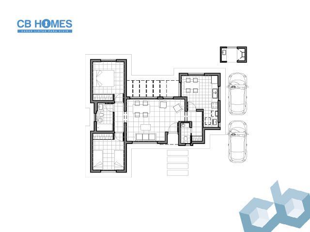 Casa 3 Ambientes - CBH-08